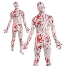 Lycra Skin Suit Adults Halloween Bloody Disappearing Man Fancy Dress Costume Men
