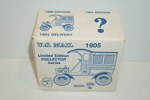 Vtg Ertl 1905 Truck Coin Bank US Mail USPS Limited Edition Collector Die-cast