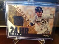 2015 Topps Career High Relics #CRH-CG Carlos Gomez Milwaukee Brewers Card