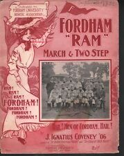 Fordham Ram 1905 Baseball Team Large Format Sheet Music