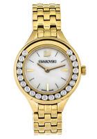 Swarovski Lovely 20 Crystals White Pearl Dial Gold SS Mini Women Watch 5242895