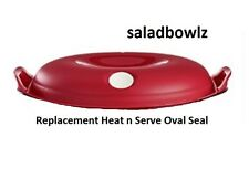 TUPPERWARE New HEAT N SERVE REPLACEMENT OVAL SEAL RED (5413) iNsTOCK! fREEsHIP!
