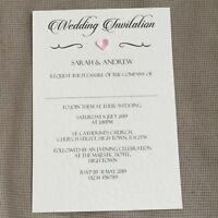 25 Personalised Wedding Evening Invitations Invites Vintage Classic Regency