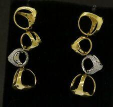 Di Modolo 18K 2-tone gold 1.20CTW VS1/G diamond abstract dangle earrings