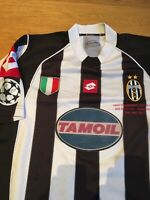 Juventus Nedved 2002/03 Maglia shirt worn issued no match Lotto Finale Champions