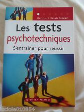 Les Tests Psychotechniques - S'entraîner Pour Réussir Horst-H Siewert
