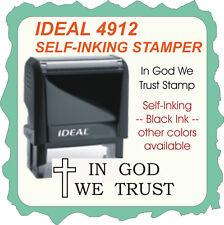 In God We Trust, Trodat / Ideal Self Inking Rubber Stamp 4912 Black Ink