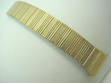 "Watch Band Vintage Speidel Mens 17.5mm-22mm 11/16""-7/8"" Gold Tn Straight Expansn"