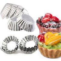 10/20PCS Egg Tart Aluminum Cupcake Cake Cookie Lined Mold Mould Tin Baking Tool