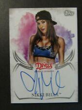 "2015 Topps WWE/Undisputed ~ NIKKI BELLA ""DIVAS""! ON CARD AUTO!!! SIGNED! (WWF!)"