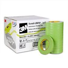 "3M Scotch Green 233+ Performance Auto Masking Tape 18mm x 55m 3/4"" 12 Rolls"