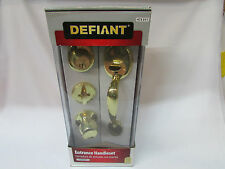 Door Lock Defiant Entrance Handleset Polished Brass 473 511 Unopened Boxed