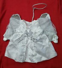 Build a Bear Clothes Angel Dress Halo Wings white & silver snowflakes Christmas