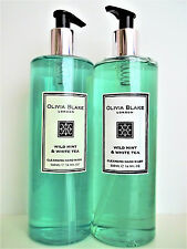OLIVIA BLAKE London, WILD MINT & WHITE TEA Cleansing Hand Wash, 16.9 oz, NEW x 2