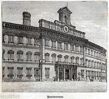 Roma:Palazzo di Montecitorio:Camera dei Deputati.Srampa Antica.Passepartout.1891