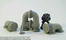 HC3D -Building Bits Vented Pipes #1- Wargames Miniatures Scenery 40k 28m 15mm