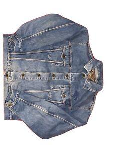 Vintage Armani Jeans Denim Jacket Size Medium