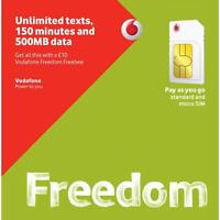 VODAFONE PAY AS YOU GO TRIO SIM CARD FOR SMARTPHONES (buy 1 get 2 free)