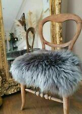 Grey swedish sheepskin chair cover