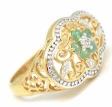 Anelli di lusso verde, con Misura anello 18