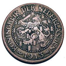 NETHERLANDS 2-1/2 CENT 1913 K4.4