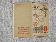 Orig. SHELL MOSELKARTE  30er J. Tourenkarte MOSEL Touren für OLDTIMER Ausfahrten
