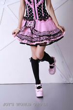 Pink and Black Polka Dot Short Skirt LOLITA Scene STARS Club Gothic FREE SHIP