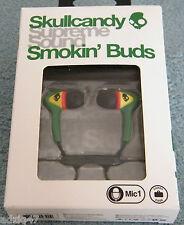 ♫ INTRA SKULLCANDY SMOKIN'BUDS RASTA CON MICRO NUEVO ♫