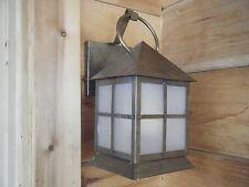 Vintage Brass Light Fixture Candle Lantern OIl GasAntique Patina 17 18th century