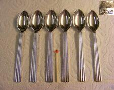 Georg Jensen 925 Sterling Silver - Bernadotte - 6x Coffee spoon / Mocha spoon