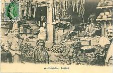 VINTAGE POSTCARD : IRAQ - BAGDAD ETHNIC: FRUIT MARKET