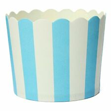50 X Cupcake Paper Cake Case Baking Cups Dessert Cup,Blue Striped ED