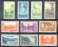 US Stamp (L2421) Scott# 756-765, Mint HR, Nice Imperf National Parks Set