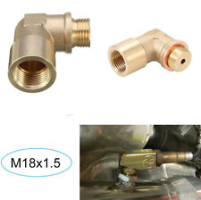 M18X1.5 Brass O2 Oxygen Sensor Extender 90 Degree Extension Spacer with Washer