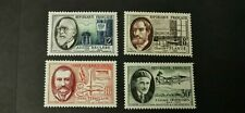 TIMBRE FRANCE 1957  NEUF **LUXE MNH SAVANTS  N° 1095 1096 1097 1098 COTE 6 €