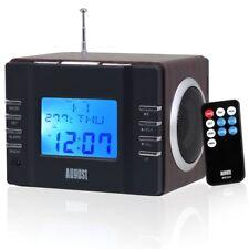 August MB 300 Radiowecker-MP3 Player Stereoanlage AUX SD USB schwarz