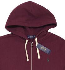 Men's POLO RALPH LAUREN Burgundy Maroon Hoodie Hooded Sweatshirt XXL NWT NEW