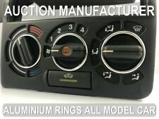 Vauxhall Opel Astra F 91-02 Polished aluminium Chrome heater surrounds rings x3