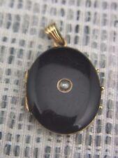 schönes altes Medaillon 585/-Gold Emaille ca.um 1860