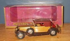 Matchbox Yesteryear Y15 Packard Victoria Marrón Dorado Cromo 24 ruedas de radios ISS 6