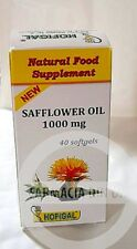 Safflower Oil 1000mg 40 capsules  Natural Fat Burner Weigh Loss