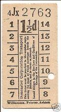 Bell Punch Ticket - Doncaster Corporation Transport - 1½d.