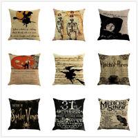 Halloween Ghost Pillow Case Sofa Waist Throw Car Bed Cushion Cover Home Decor
