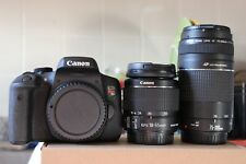 MINT Canon EOS Rebel T6i / 750D DSLR Camera EF-S 18-55mm and 75-300mm III Lens