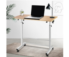 Laptop Desk On Wheels Portable Computer Stand Mobile Adjustable Tilting Table