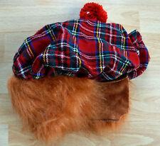 Scottish Tartan Hat Ginger Hair Attached Burns Night Scottish Fancy Dress 64568c1035bc