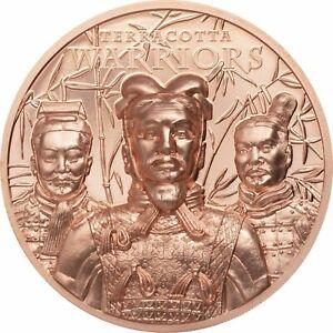 2021 Cook Islands Terracotta Warriors 50g Copper Ultra High Relief $1 Coin JJ876