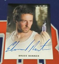 2008 Marvel The Incredible Hulk Edward Norton as Bruce Banner Autograph