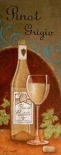 Jane Caroll: Pinot Grigio finished picture 20x50 Wall Art Wine