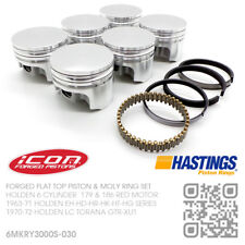"186+030"" FORGED PISTON & MOLY RING SET 6 CYL MOTOR [HOLDEN LC TORANA GTR-XU1]"